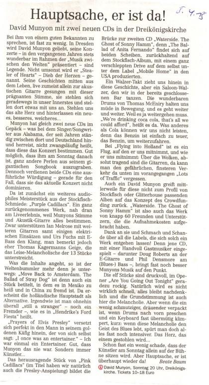 Artikel Dresdner Neueste Nachrichten