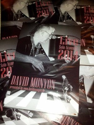 David Munyon Solo Acoustic Tour 2014 Poster
