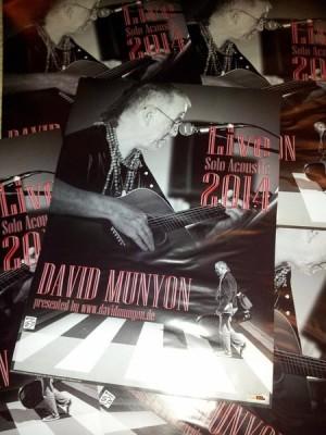 David Munyon Solo Acoustic Tour 2014 Poster